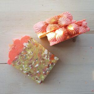 Pink Confetti Handmade Soap