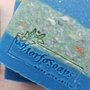 Green and Blue Confetti Soap