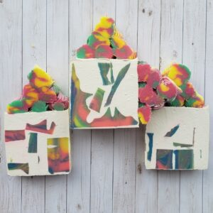 Handmade spring colors soap